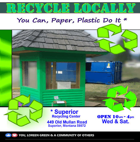 Recycle locally - Advertisement by GSWallace - Superior Montana